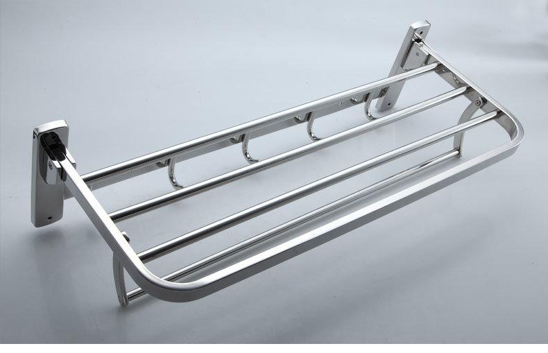 Bathroom Accessories Double Layer Folding Towel Rack (LJ502Y)