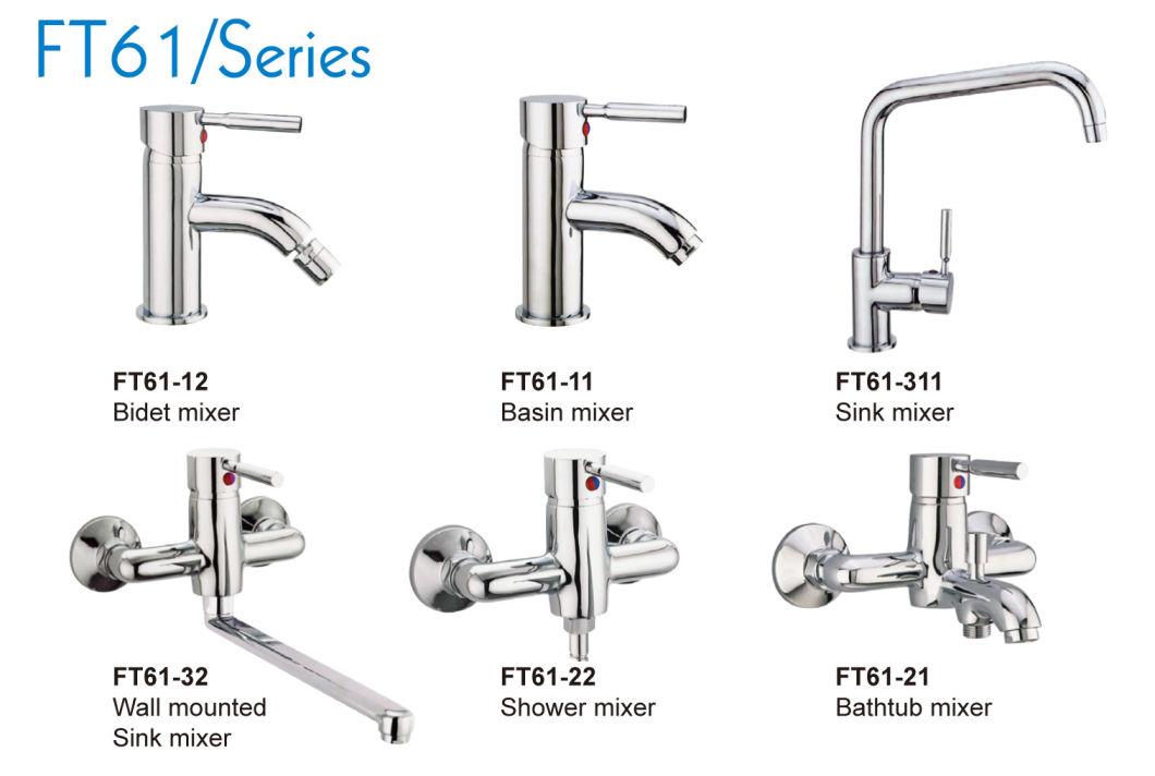 Square Spout Sink Mixer Kitchen Faucet (FT61-311)