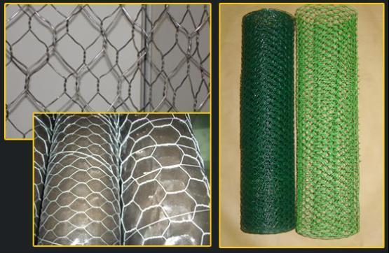 Galvanized & PVC Coated Hexagonal Chicken Wire Mesh