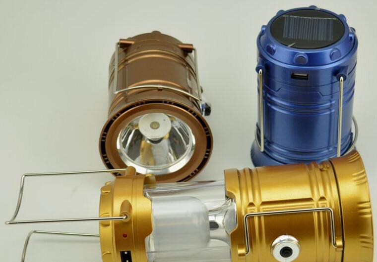Emergency Portable Solar Camping Lantern with AC Port