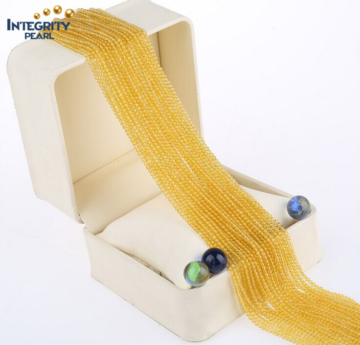 Gemstone Natural Quartz Loose Strands Wholesale Cute Size 2mm 3mm Light Yellow Crystal Beads in Bulk