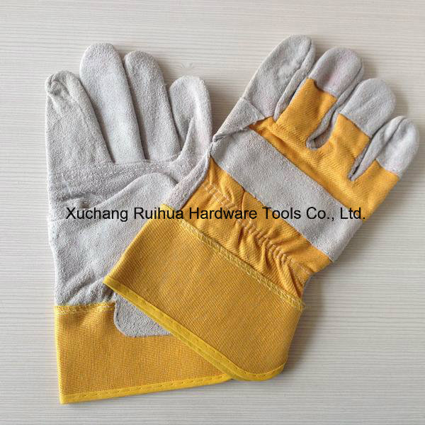 Short Welding Gloves, Safety Working Gloves, 10.5''patched Palm Leather Gloves, Reinforced Palm Leather Working Gloves, Driver Gloves Supplier