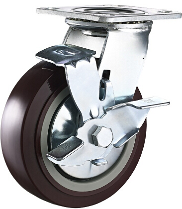 4 Inch Super Heavy Duty PU Swivel Industrial Caster, Trolley Caster