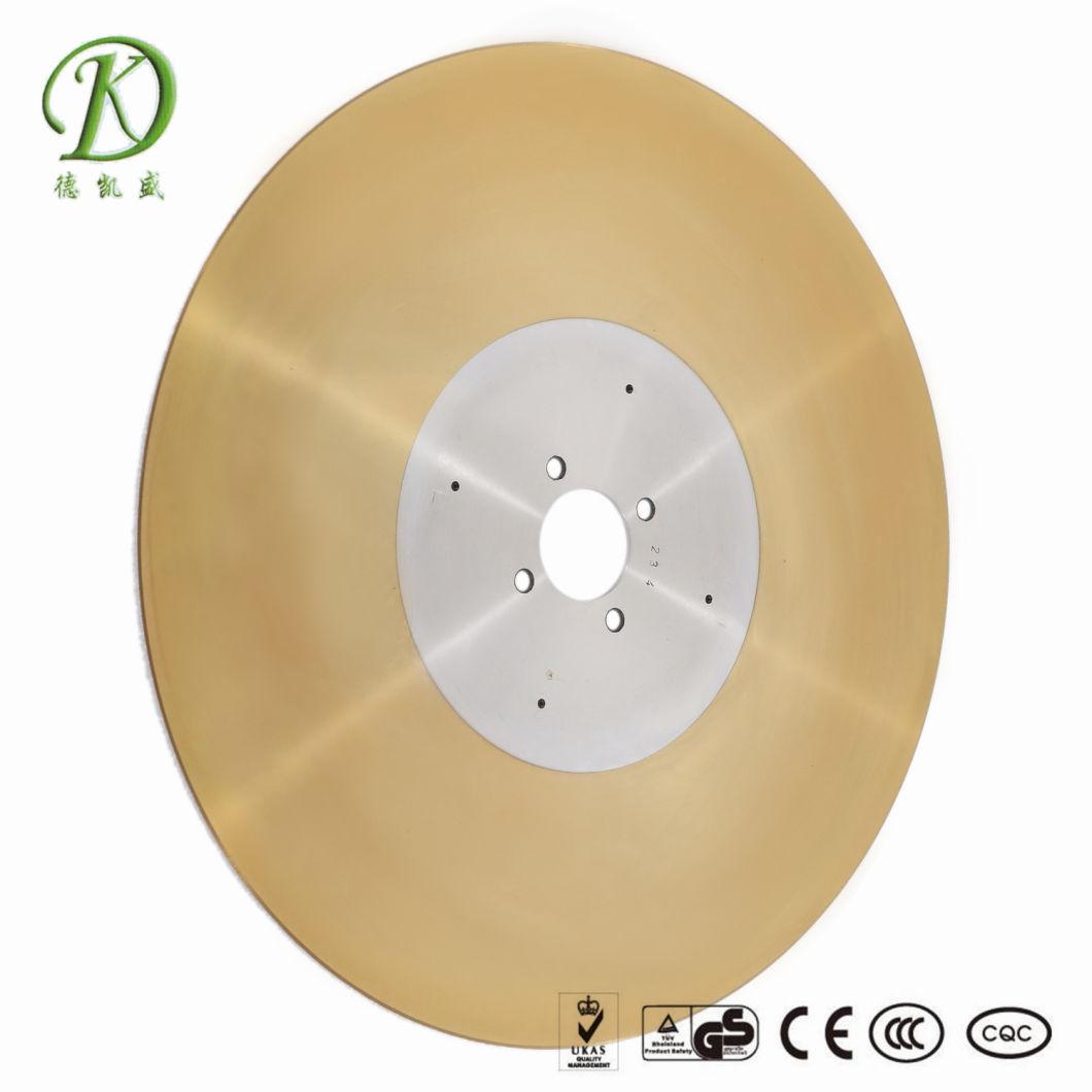 D2d Golden Log Saw Blade for Tissue Paper Machine