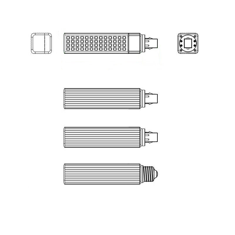 China Manufacturer G24 G23 E27 11W LED Pl Light
