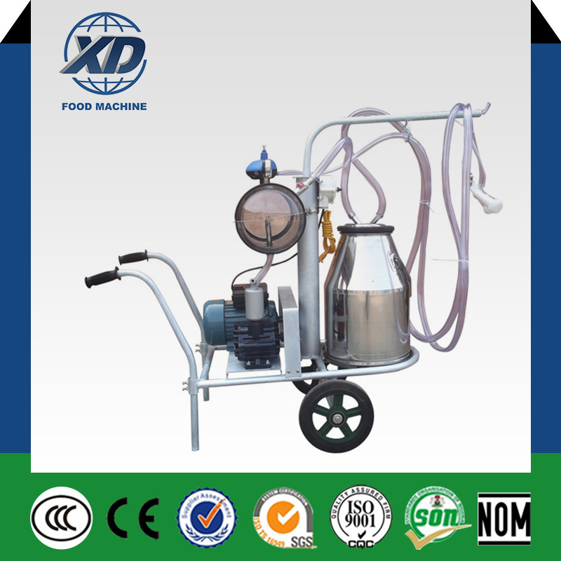 Vacuum Pump Single Bucket Cow and Goat Milking Machine