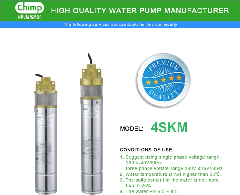 3, 4 Inch Oil Filled Submersible Clean Water Pump