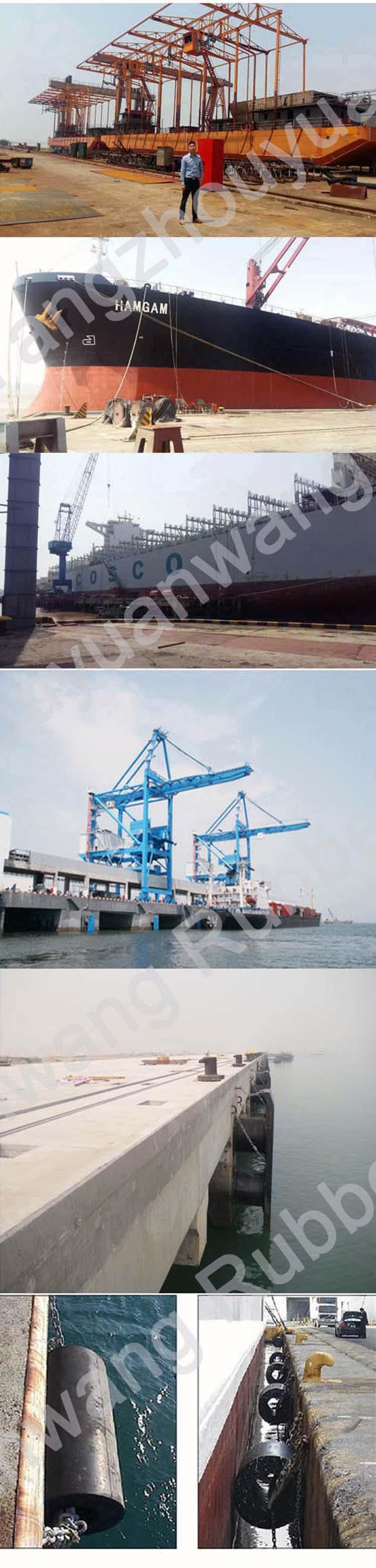 Marine Ship Boat Solid Dock Semi-Cylindrical Rubberfender
