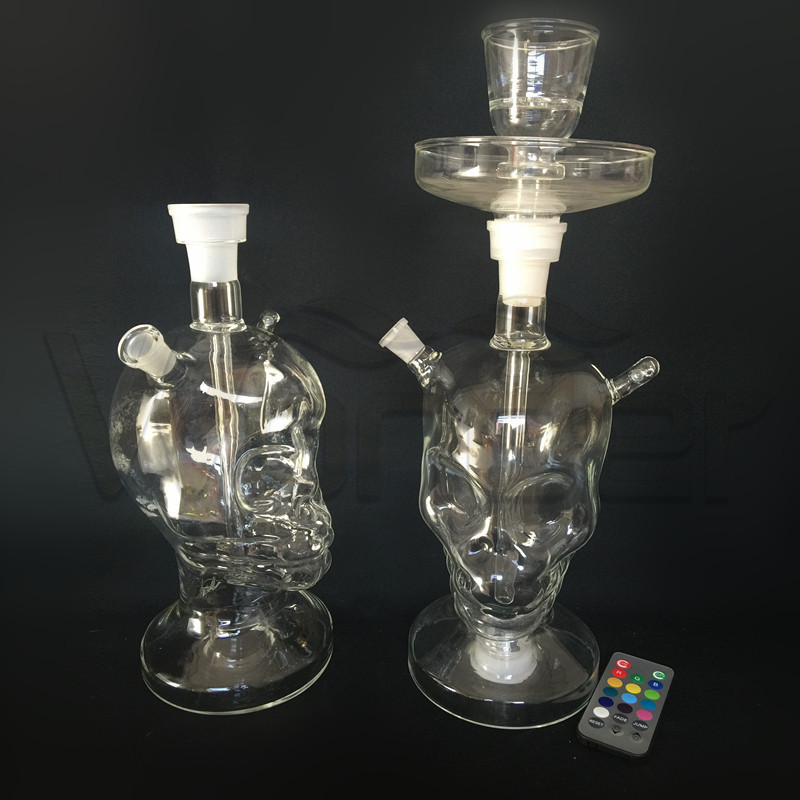 Skeleton Type Glass Shisha Hookah for Wholesale