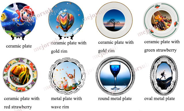 Photo Printed Sublimation Metal Plate with Wave Rim