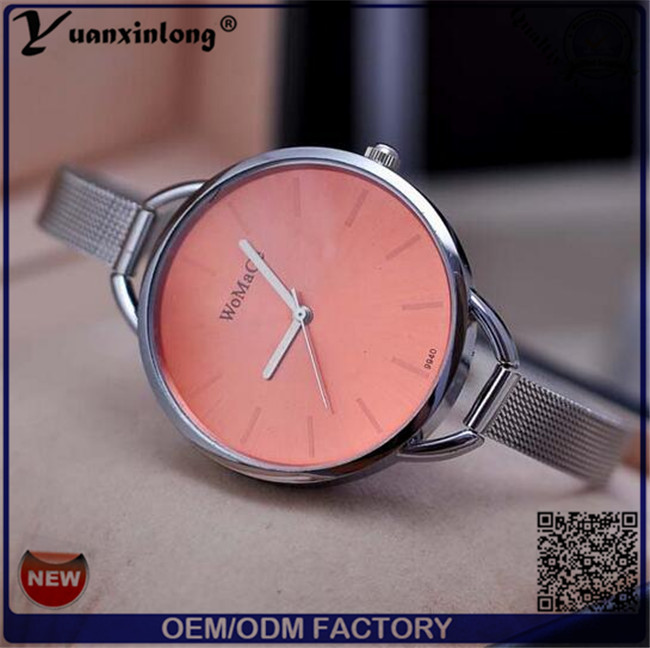 Yxl-413 2016 Fashion Ladies Wrist Watch Japan Movt Quartz Watch Colorful Dial Vogue Dress Mesh Strap Women Watch