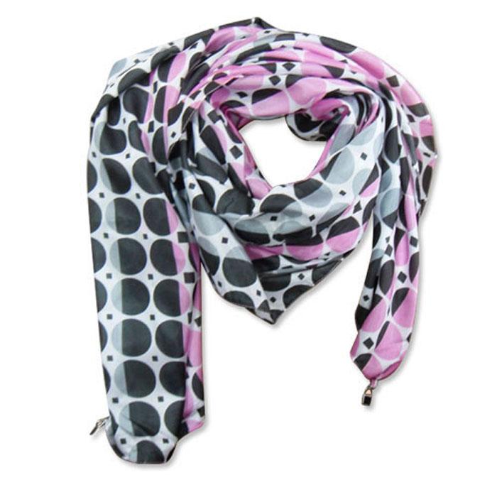 Ladies Fashion Polyester Artificial Silk Printed Scarf
