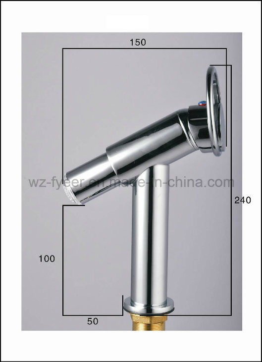 New Design Single Ring Handle LED Brass Basin Faucet (QH0618F)