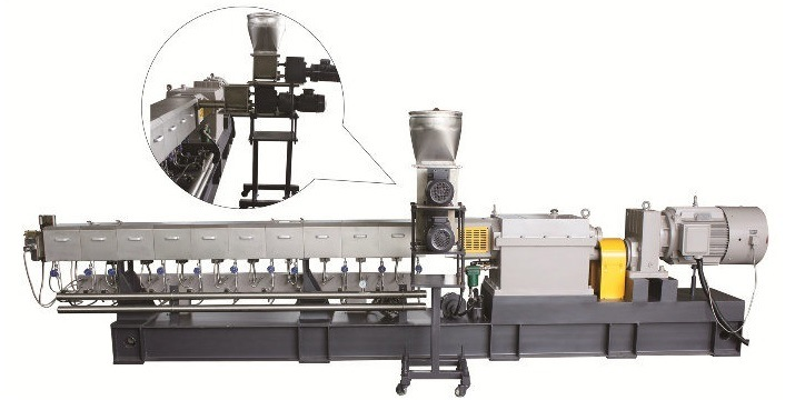 Easily Operated Plastic Two Stage Twin Pellet Extruder 2018