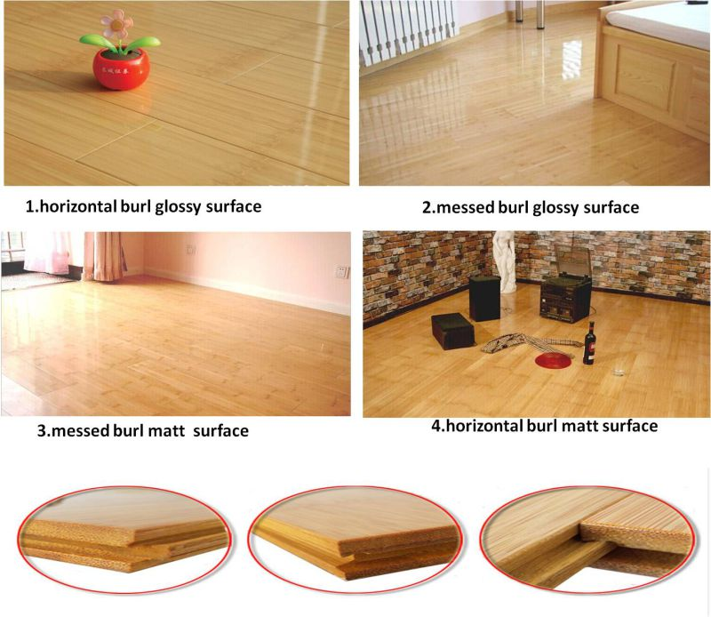 T&G UV Lacquer Carbonized Horizontal Bamboo Flooring