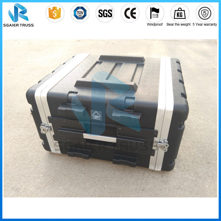 Handle Style Easy Carry Black Striped ABS Aluminum Tool Case