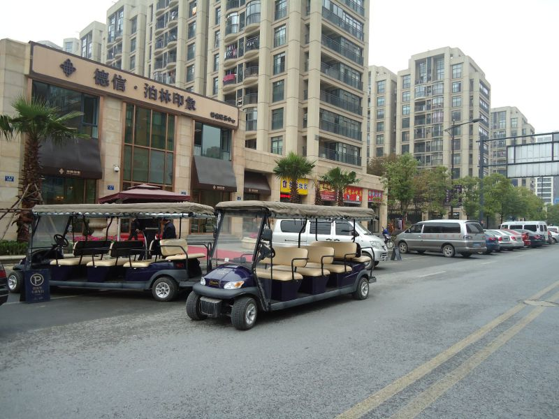 Cheap 11 Passengers Electric Sightseeing Car Made in China