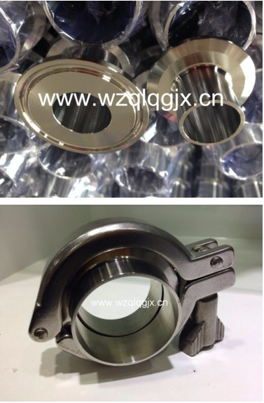 Sanitary Fitting Quick Locking Stainess Steel Pipe Clamp