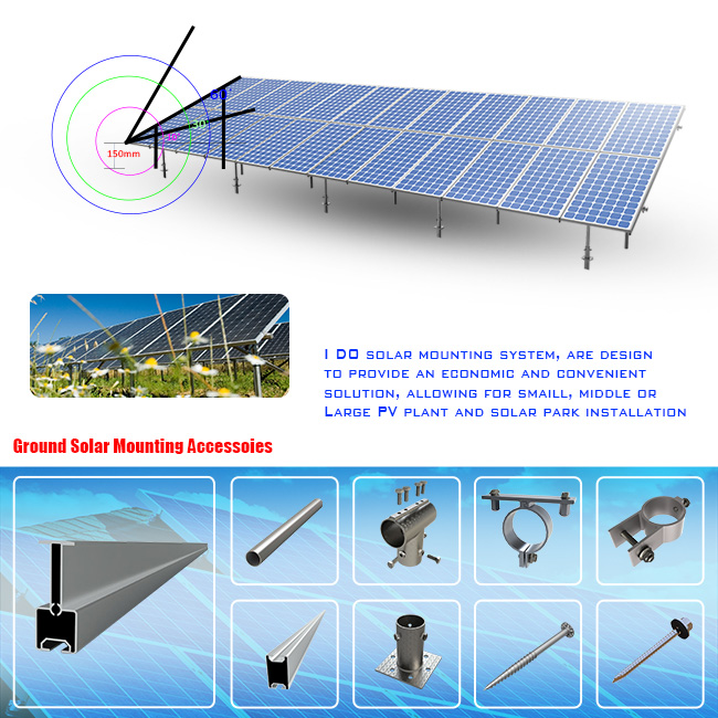 High Efficient Carport Ground Mounting (GD165)