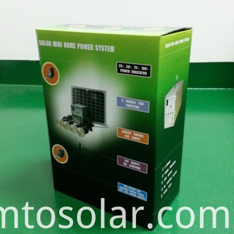 Giftbox for solar home lighting system