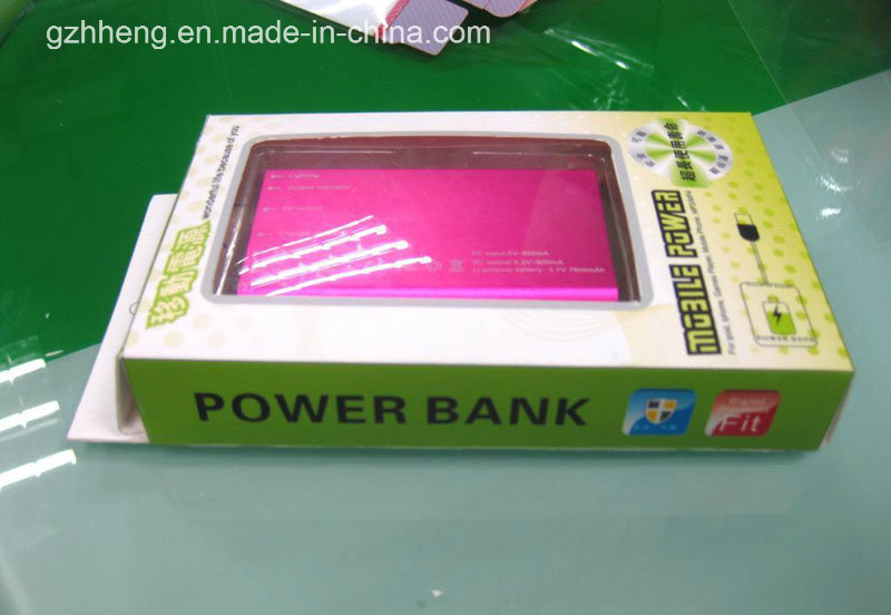 Printed Plastic Packaging Box for Electronic Product (Power Bank)