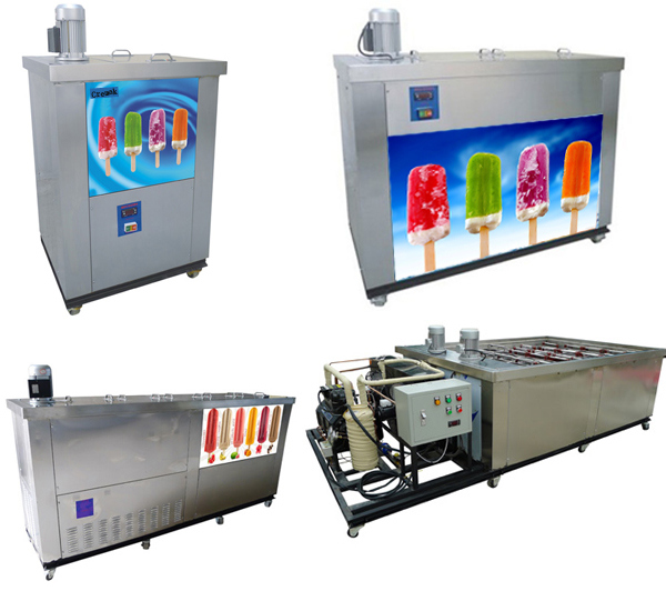 Commercial Can Set 4 Molds Popsicle Ice Maker