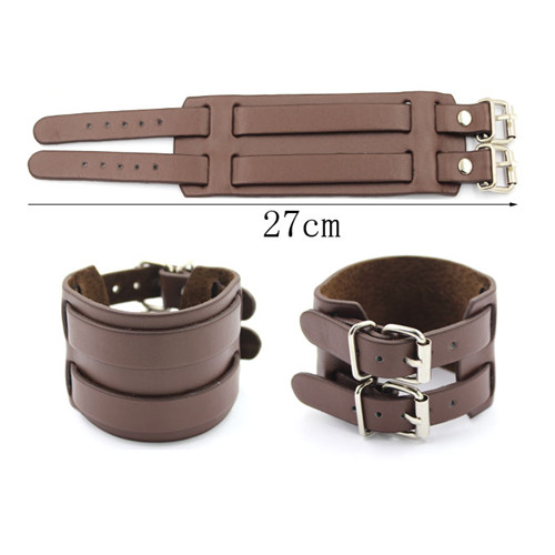 New DIY Leather Bracelet 27cm for Man Gift Wrap Bracelets