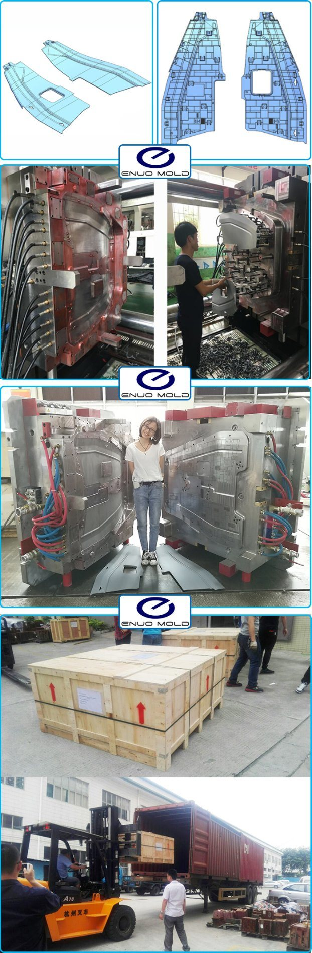 Vehicle Trim Console Auto Parts of Thermoplasic Plastic Mould Design Manufacturers