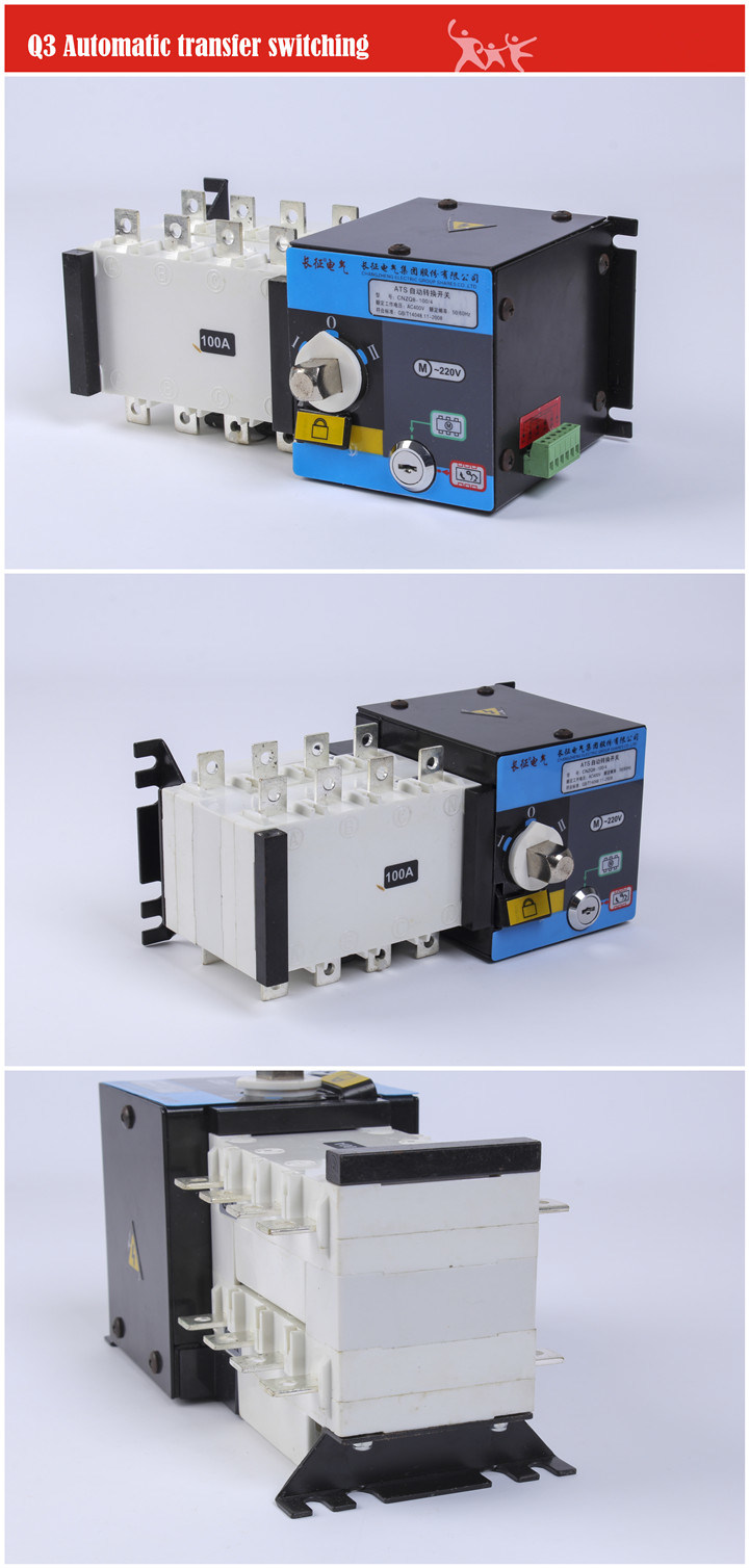 ATS Wats 400A Dual Driver Dual Power Supply Automatic Transfer Switch for Circuit Breaker MCB RCCB
