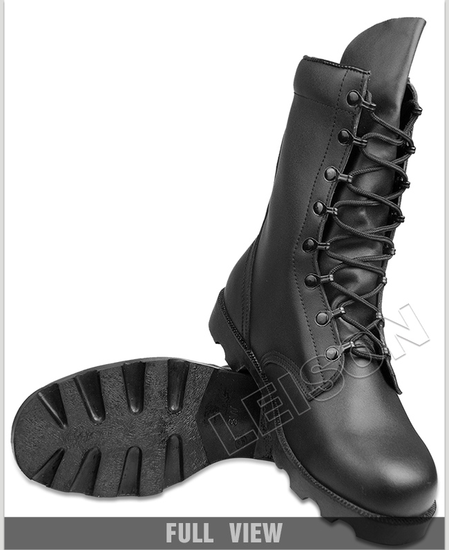 Tactical Boots of Full Grain Leather Upper with Durable Non-Slip Outsole