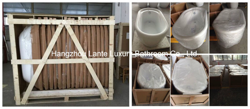 Acrylic Soaking Skirt Bathtub with Fiber Glass (LT-20Q)