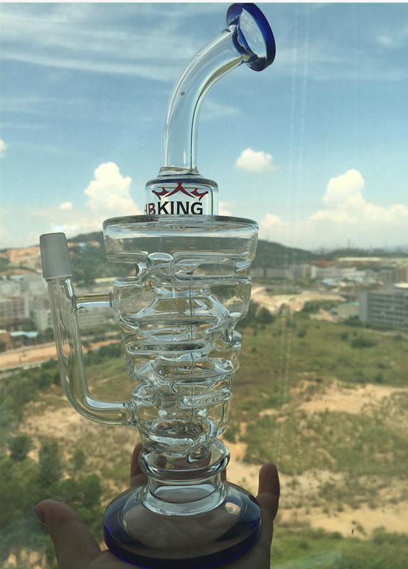 Hot Selling Inverted Triangle Recycler Glass Water Pipe Wholesale Price
