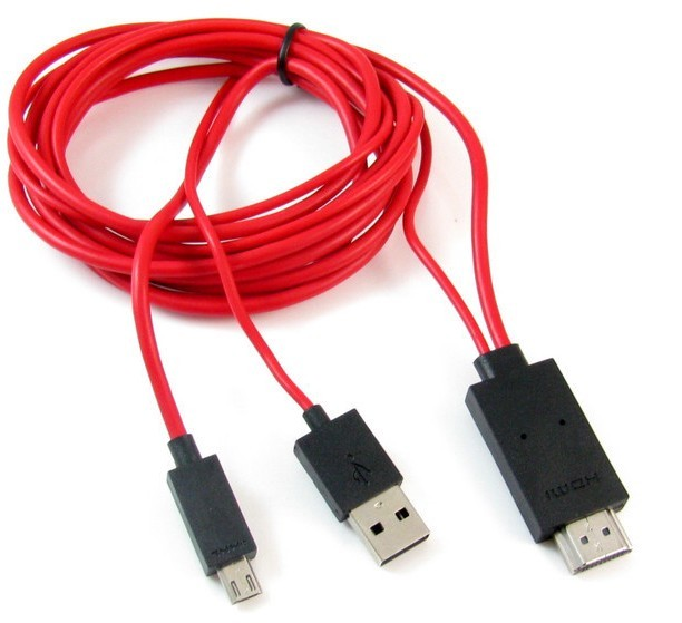 Mhl to HDMI Conversion Cable with Extra USB (L75)