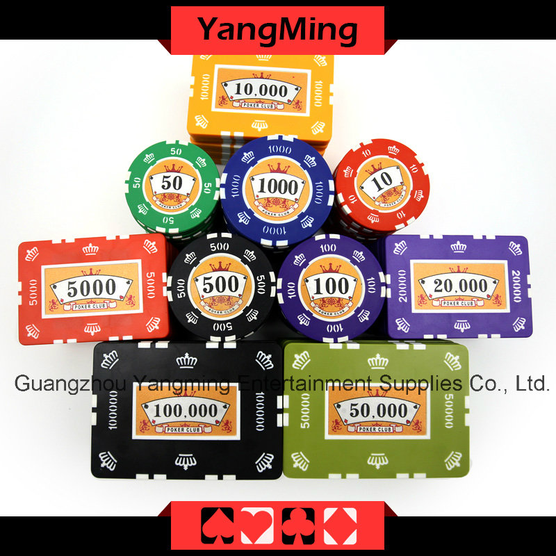 Crown Clay Poker Chips Set (760PCS) Ym-Sghg003