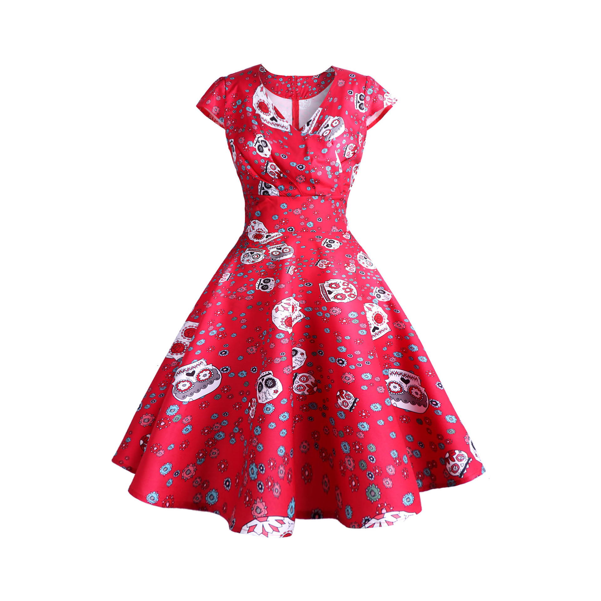 Retro Printed Dress