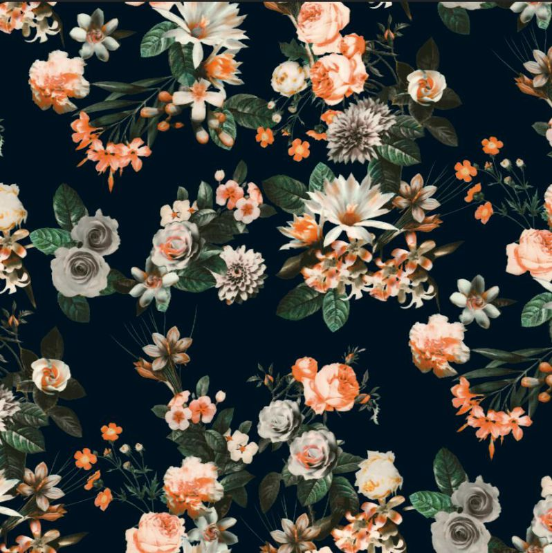 New Flower Design Printed Woven Garment Fabric