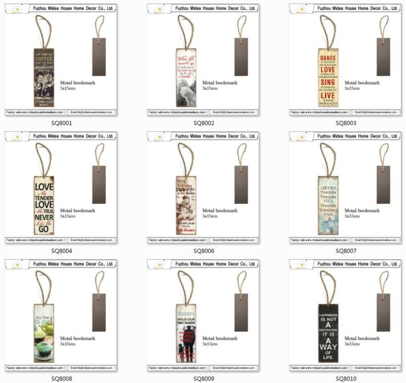 Colorful 5*15 Cm or Customized Metal Bookmark