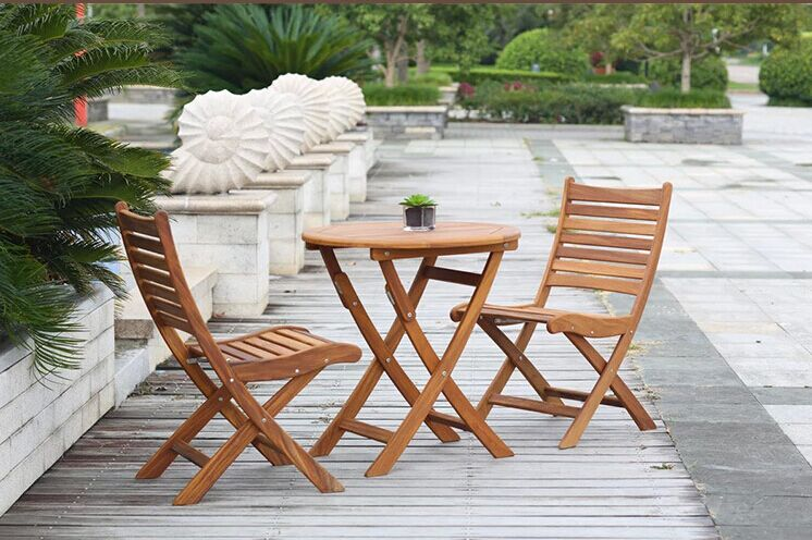 Patio Wood Folding Bistro Chair for Outdoor Garden Lawn Cafe House Terrace Home Deck