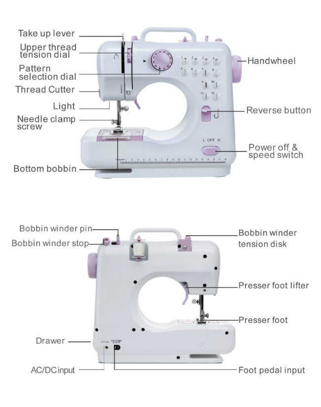 Overlock Button Hole Machine Price Sewing Machine with Table Stand (FHSM-505)