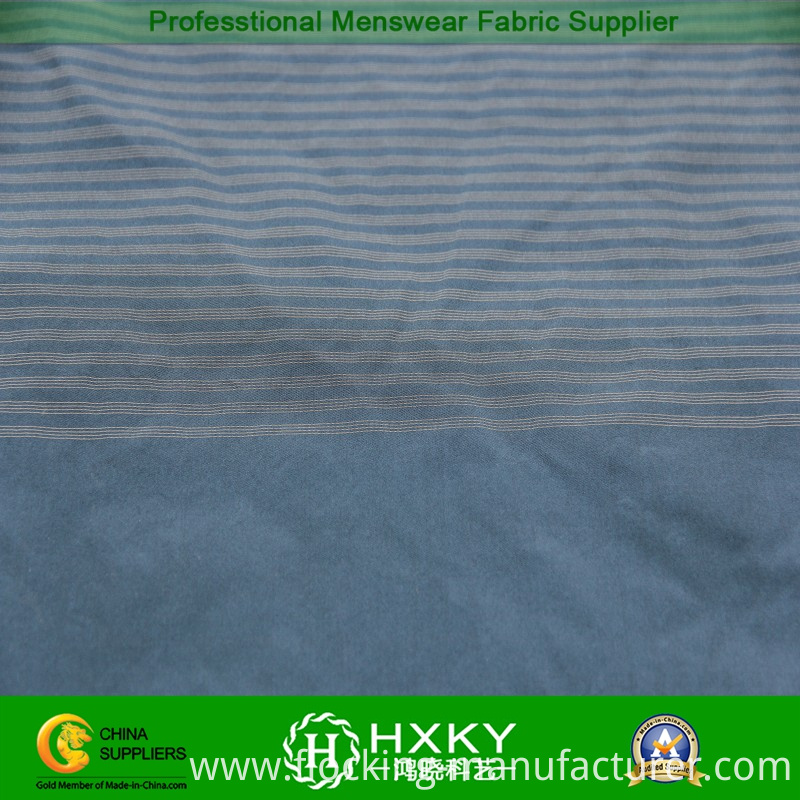 75D Horizontal Stripe Yarn Dyed with Twill Polyester Fabric for Jacket
