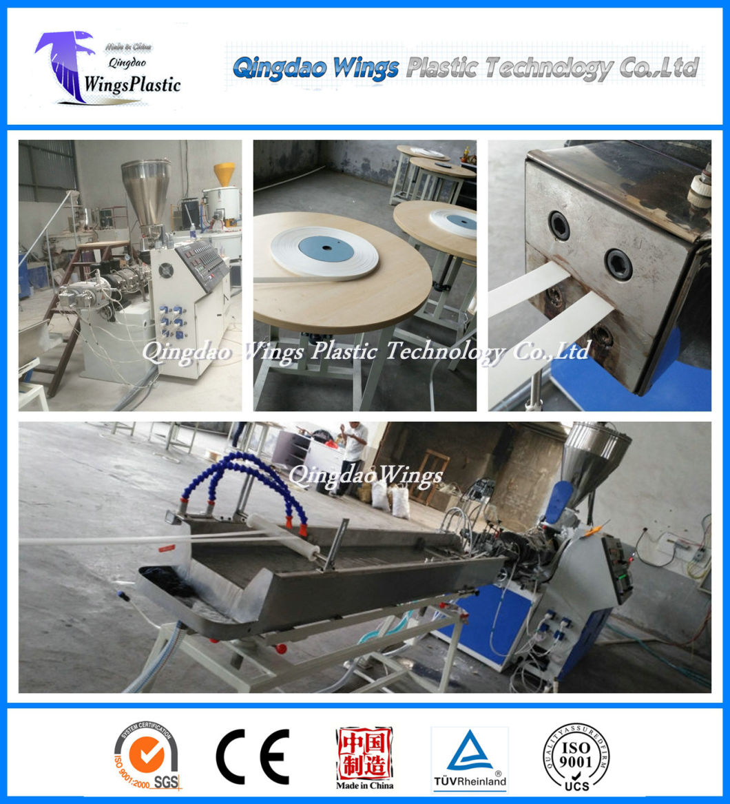 Plastic Extruder Machine for PVC Edge Banding Tape of Particle Board