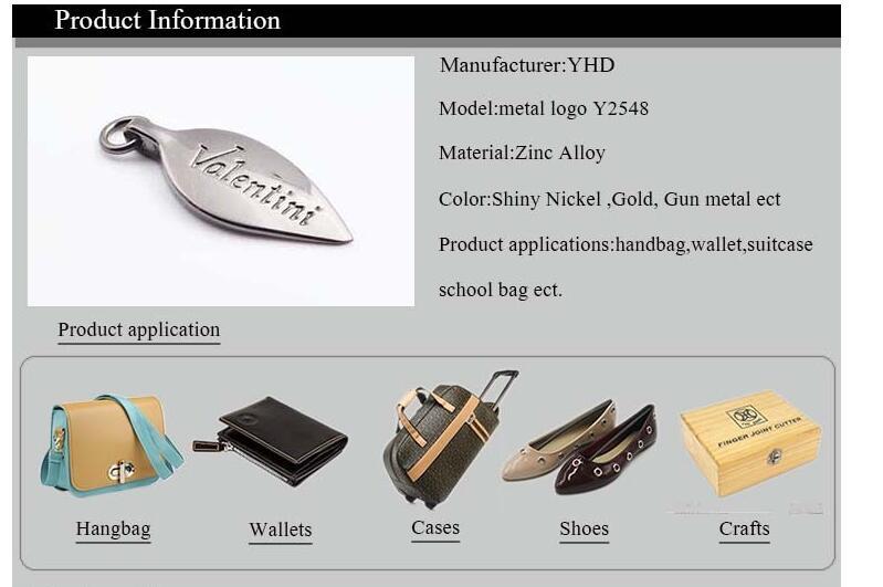 Charm Luxury Clothing Tag Garments Label Metal Clothing Logos Metal Labels