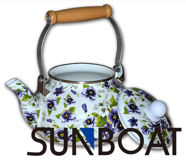 Enamel Customized Teapot with Cover
