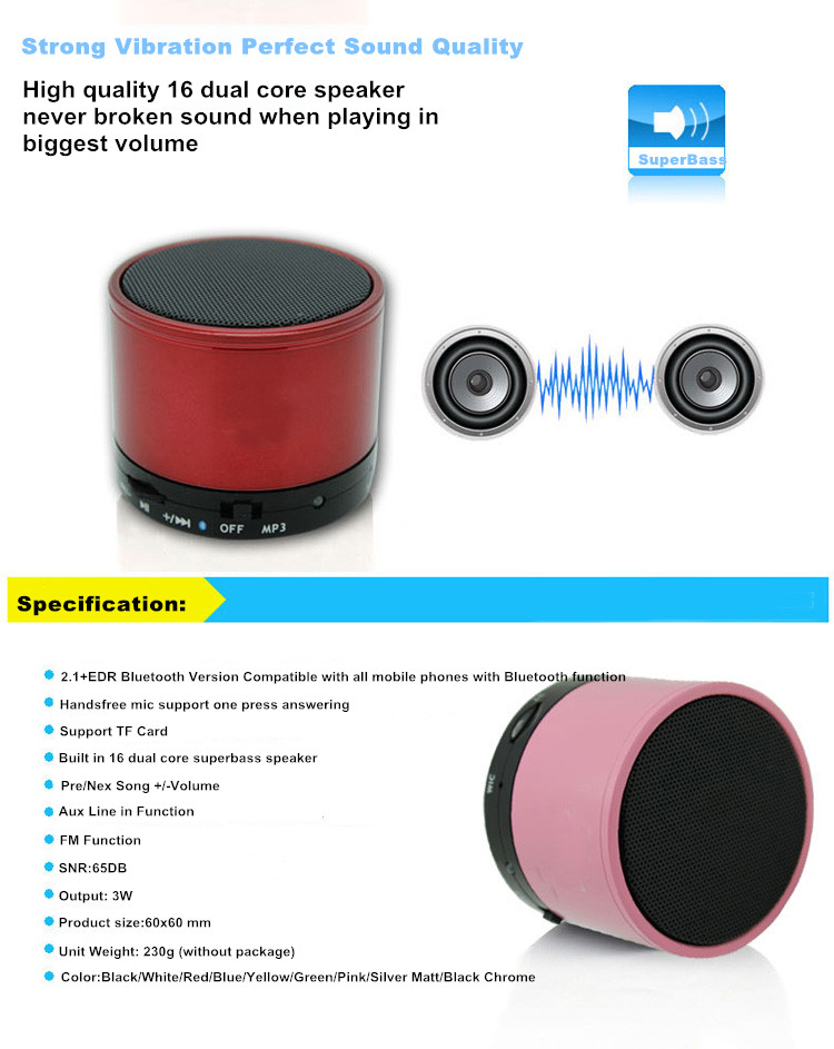 Portable Mini Bluetooth Speaker (S10)