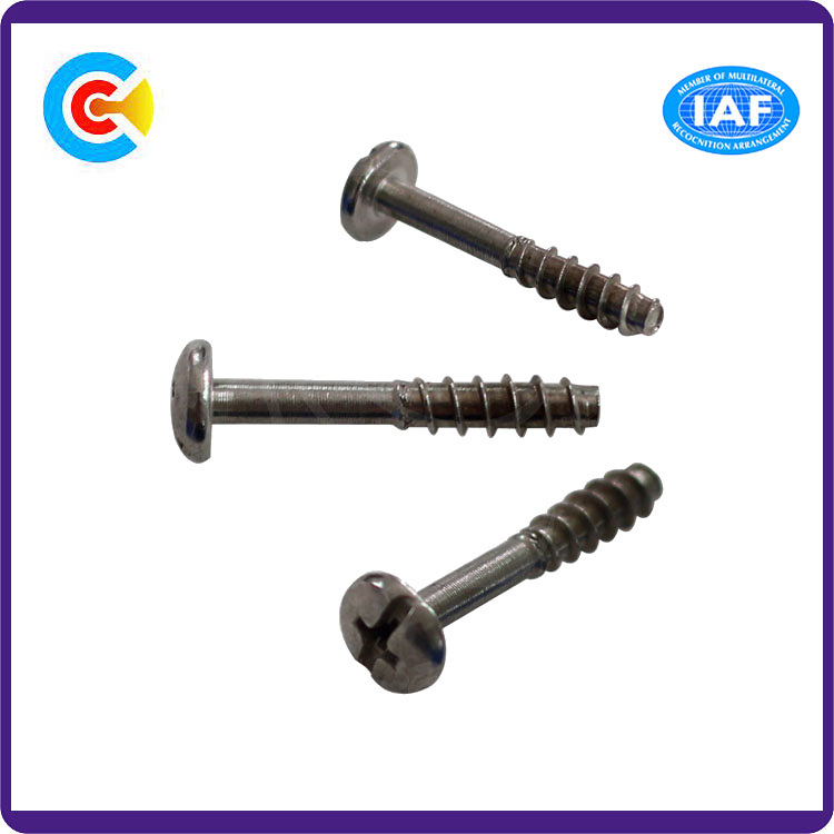 Steel/4.8/8.8/10.9 Flat Tail/Shrink Bar Phillips/Cross Pan Head Inch Self-Tapping Screws