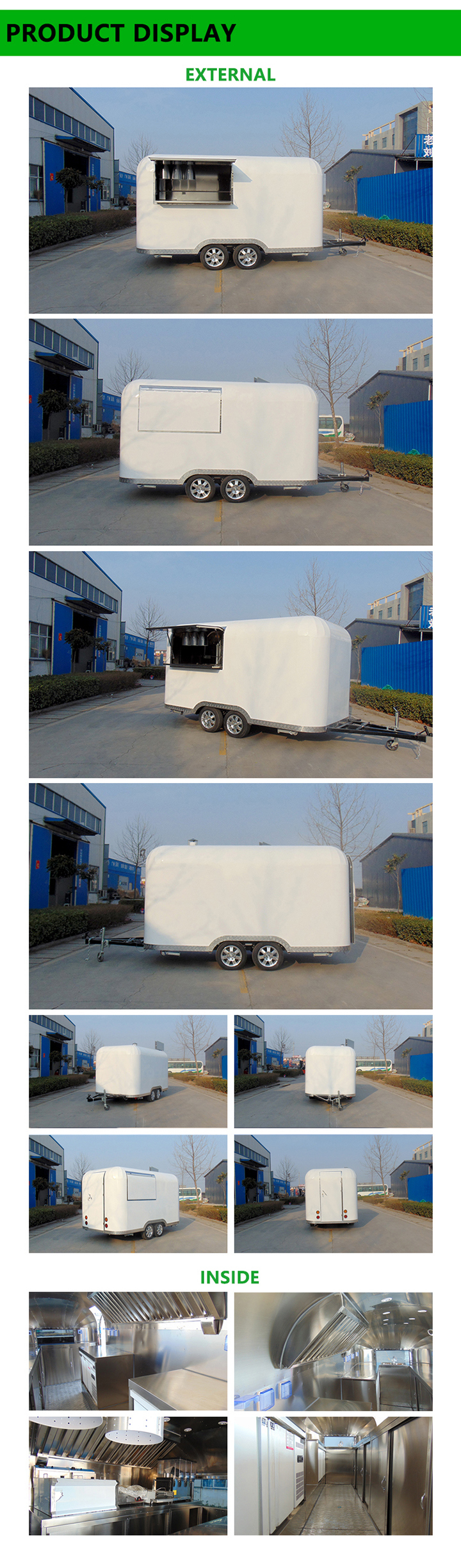 Fast Food Delivery Mobile Food Trailer with Best Price