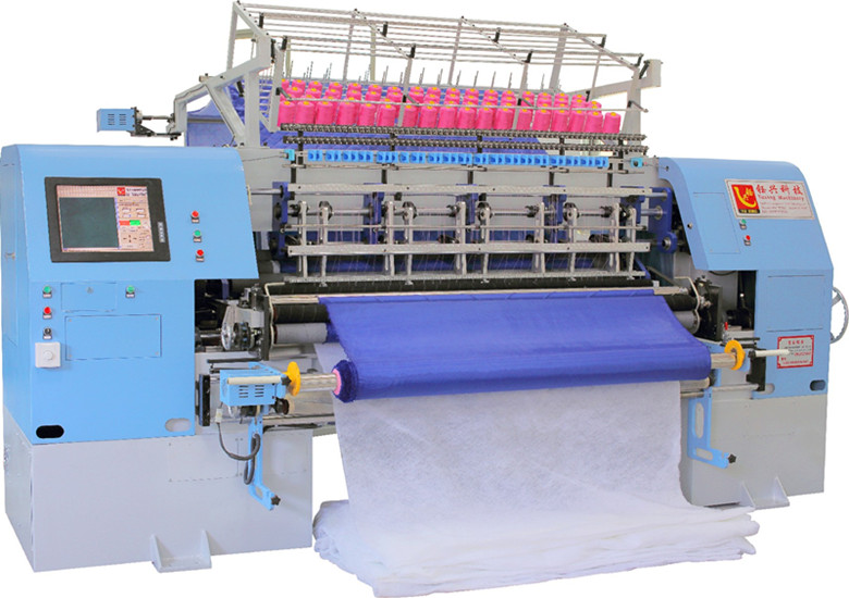 High Speed 64 Inches Shuttle Multi-Needle Quilting Machine for Blankets, Garments, Sleeping Bags