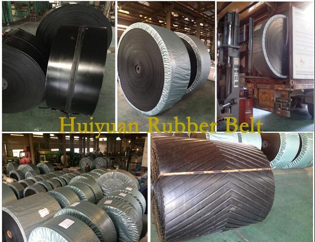 V Cleat (chevron) Rubber Conveyor Belt