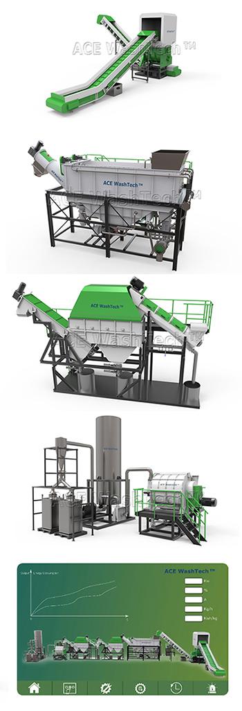 Plastic PP Chair Shredder Recycling Washing Machine