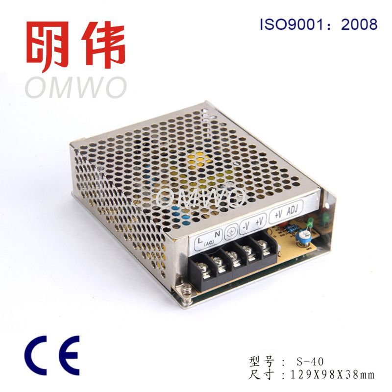 40W Single Output Switching Power Supply S-40